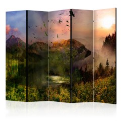 Artgeist 5-teiliges Paravent - Bear in the Mountain II [Room Dividers]