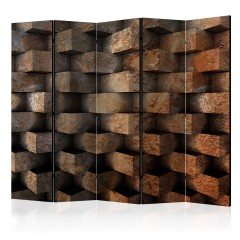 Artgeist 5-teiliges Paravent - Brick  braid  II [Room Dividers]
