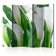 Artgeist 5-teiliges Paravent - bunch of flowers - callas II [Room Dividers]