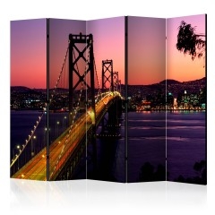 Artgeist 5-teiliges Paravent - Charming evening in San Francisco II [Room Dividers]