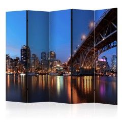 Artgeist 5-teiliges Paravent - City Lights II [Room Dividers]