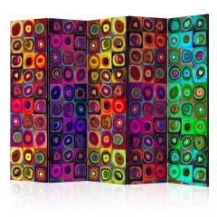 Artgeist 5-teiliges Paravent - Colorful Abstract Art II [Room Dividers]