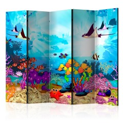 Artgeist 5-teiliges Paravent - Colourful Fish II [Room Dividers]
