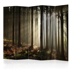 Artgeist 5-teiliges Paravent - Coniferous forest II [Room Dividers]