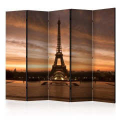 Artgeist 5-teiliges Paravent - Evening Colours of Paris II [Room Dividers]
