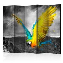 Artgeist 5-teiliges Paravent - Exotic parrot II [Room Dividers]