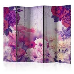 Artgeist 5-teiliges Paravent - Flowers Memories II [Room Dividers]