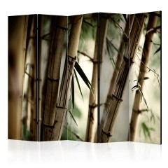 Artgeist 5-teiliges Paravent - Fog and bamboo forest II [Room Dividers]