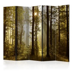 Artgeist 5-teiliges Paravent - Forest: Morning Sunlight  II [Room Dividers]