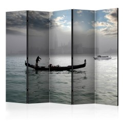 Artgeist 5-teiliges Paravent - Gondola ride in Venice II [Room Dividers]