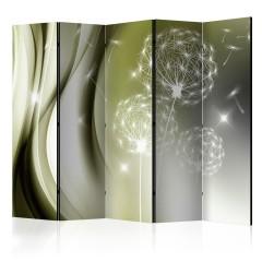 Artgeist 5-teiliges Paravent - Green Gentleness II [Room Dividers]