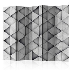 Artgeist 5-teiliges Paravent - Grey Triangles II [Room Dividers]