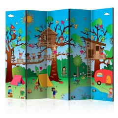 Artgeist 5-teiliges Paravent - Happy Children II [Room Dividers]
