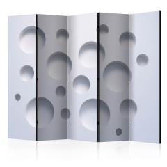Basera® 5-teiliger Paravent, Raumteiler, Motiv a-B-0045-z-c