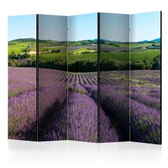 Artgeist 5-teiliges Paravent - Lavender fields II [Room Dividers]