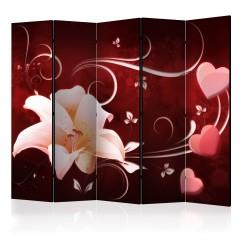Artgeist 5-teiliges Paravent - Love Message II [Room Dividers]