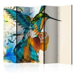 Artgeist 5-teiliges Paravent - Marvelous bird II [Room Dividers]