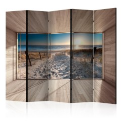 Artgeist 5-teiliges Paravent - Modern Lounge: By the Sea II [Room Dividers]