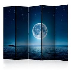 Artgeist 5-teiliges Paravent - Moonlit night II [Room Dividers]
