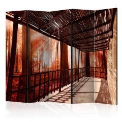 Artgeist 5-teiliges Paravent - Nature: Forest Terrace II [Room Dividers]