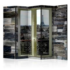Artgeist 5-teiliges Paravent - Parisian View II [Room Dividers]