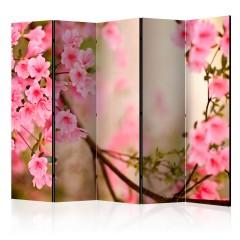 Artgeist 5-teiliges Paravent - Pink azalea II [Room Dividers]