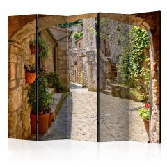 Artgeist 5-teiliges Paravent - Provincial alley in Tuscany II [Room Dividers]