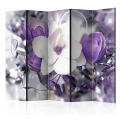 Artgeist 5-teiliges Paravent - Purple Empress II [Room Dividers]