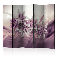 Artgeist 5-teiliges Paravent - Purple Secrecy II [Room Dividers]