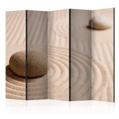 Artgeist 5-teiliges Paravent - Sand and zen II [Room Dividers]