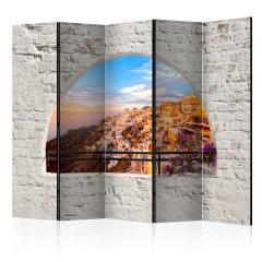 Artgeist 5-teiliges Paravent - Santorini II [Room Dividers]