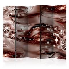 Artgeist 5-teiliges Paravent - Scarlet Shoal II [Room Dividers]
