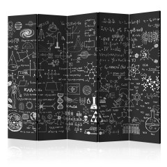 Artgeist 5-teiliges Paravent - Science on Chalkboard II [Room Dividers]