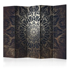 Artgeist 5-teiliges Paravent - Spider Web (Brown) II [Room Dividers]