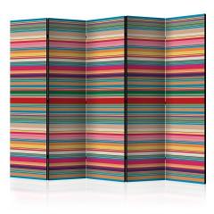 Artgeist 5-teiliges Paravent - Subdued stripes II [Room Dividers]