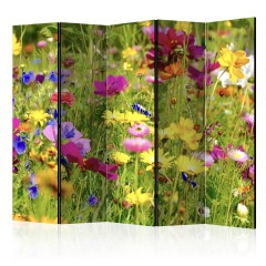 Artgeist 5-teiliges Paravent - Summer Flowers II [Room Dividers]
