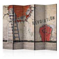 Artgeist 5-teiliges Paravent - The invisible hand of the revolution II [Room Dividers]