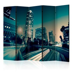 Artgeist 5-teiliges Paravent - The streets of Los Angeles II [Room Dividers]