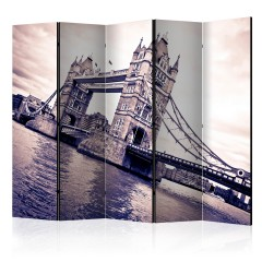 Artgeist 5-teiliges Paravent - Tower Bridge II [Room Dividers]