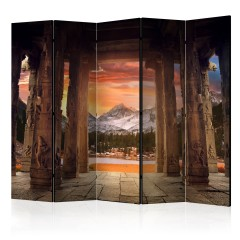 Artgeist 5-teiliges Paravent - Trail of Rocky Temples II [Room Dividers]
