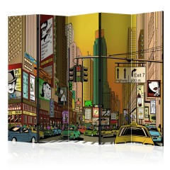Artgeist 5-teiliges Paravent - Vibrant city - NY II [Room Dividers]