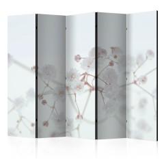 Artgeist 5-teiliges Paravent - White Flowers II [Room Dividers]