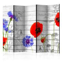 Artgeist 5-teiliges Paravent - Wildflowers II [Room Dividers]