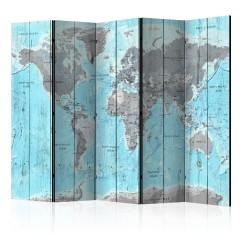 Artgeist 5-teiliges Paravent - Wooden Travels [Room Dividers]