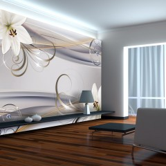 Basera® Selbstklebende Fototapete Lilienmotiv b-A-0230-a-c, mit UV-Schutz