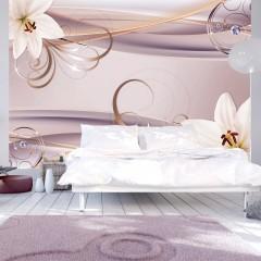 Basera® Selbstklebende Fototapete Lilienmotiv b-A-0230-a-d, mit UV-Schutz