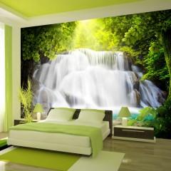 Basera® Selbstklebende Fototapete Fluss- & Wasserfallmotiv 10110903-35, mit UV-Schutz