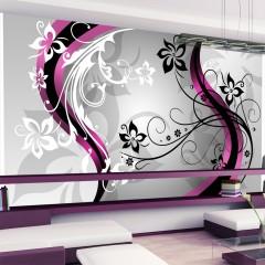 Basera® Selbstklebende Fototapete Schnörkelmotiv 10130906-3, mit UV-Schutz