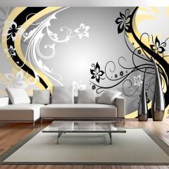 Selbstklebende Fototapete - Art-flowers (yellow)
