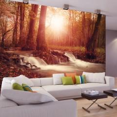 Basera® Selbstklebende Fototapete Waldmotiv c-B-0089-a-d, mit UV-Schutz